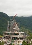 Buddha construction on mountain Royalty Free Stock Photography