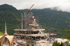 Buddha construction on mountain Stock Photos