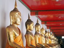 Buddha in corridor of light Stock Photo