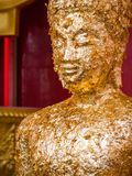 Buddha covered in gold leaf Royalty Free Stock Photography