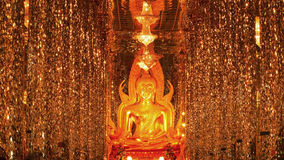 Buddha in Crystal temple Stock Photography