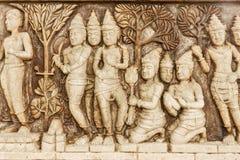 buddha cyzelowania kamień Obrazy Royalty Free