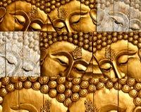 buddha cyzelowania twarzy władyki s drewno Zdjęcie Royalty Free