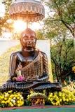 Buddha czerni statuę w Sanam Luang, Bangkok, Tajlandia Zdjęcia Stock