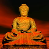 Buddha - 3D render Royalty Free Stock Photos