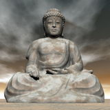 Buddha - 3D render Stock Photography