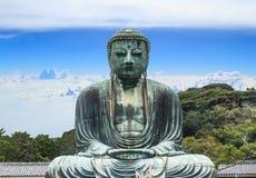Buddha daibutsu. Of Kotoku-in Temple, Kamakura City, Metro Tokyo, Japan. Blue sky background Stock Photography