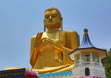 Buddha on Dambula golden temple in Sri lanka Royalty Free Stock Photography