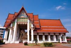 Buddha de descanso en el Nai de Wat Hat Yai Fotografía de archivo libre de regalías
