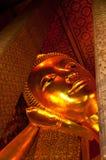 Buddha de descanso, Wat Pho, Tailandia Fotos de archivo libres de regalías
