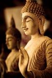 Buddha de madera Fotos de archivo libres de regalías