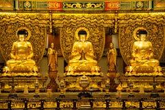 3 buddha de oro imagen de archivo libre de regalías