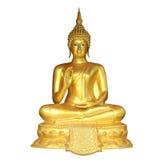 Buddha de oro aislado en blanco Foto de archivo
