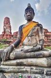 Buddha de piedra de Ayutthaya Fotos de archivo