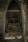 Buddha decay , THAILAND Ruins and Antiques at the Ayutthaya Historical Park.  Stock Photo
