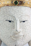 Buddha deco mask. Buddha wooden decoration mask handcrafted objects Royalty Free Stock Photography