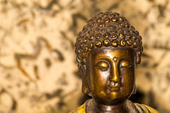 Buddha in deep meditation. Indian Buddha figure royalty free stock photos