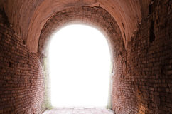 Buddha, der alte Tunnel von Wat Umong Suan Phutthatham-Tempel in C Lizenzfreie Stockbilder