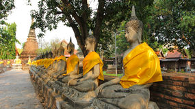 Buddha in der alten Stadt von Ayutthaya. Lizenzfreies Stockbild