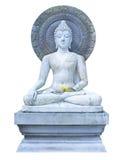 Buddha, der auf dem Turm sitzt Lizenzfreies Stockfoto