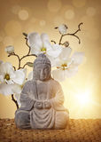 Buddha in der Meditation Stockfotografie