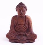 Buddha di legno. L'Indonesia Fotografia Stock