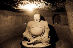 Buddha di pietra Fotografia Stock