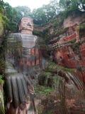 Buddha di pietra gigante Fotografia Stock