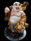 Buddha di risata per felicità, benessere e prosperità Immagini Stock