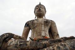 Buddha di seduta in Sukhotai Fotografia Stock Libera da Diritti