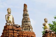 Buddha di Wat Chai Wattanaram Fotografia Stock Libera da Diritti