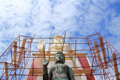 buddha diagram sitting Arkivbild