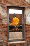 buddha diagram sitting Royaltyfri Bild