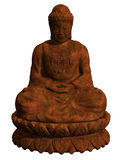 buddha diagram sitting Royaltyfri Foto