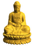 buddha diagram sitting Royaltyfria Bilder