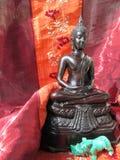 buddha diagram sitting arkivfoto