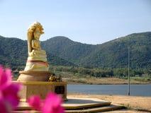 buddha diagram sitting Royaltyfri Bild