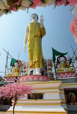 buddha diagram sitting Wat Phra That Doi Kham tempel Tambon Mae Hia, Amphoe Mueang Chiang Mai Province thailand royaltyfria foton