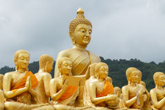 Buddha and disciple outdoor Stock Image