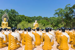 Buddha with disciple at Thai temple.  Stock Images