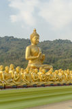 Buddha and disciples. In the historical park, Thailand Stock Photo