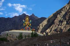 Buddha in Diskit in Ladakh, India fotografia stock