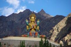 Buddha in Diskit in Ladakh, India fotografia stock libera da diritti