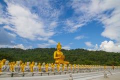 Buddha dorato al parco commemorativo di Buddha Fotografia Stock