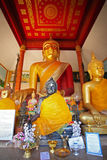 Buddha dorato e Buddha nero Fotografie Stock