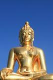 Buddha dorato enorme Fotografie Stock Libere da Diritti