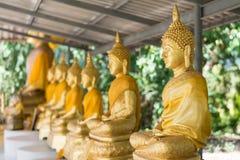Buddha dorato nel tempiale Immagini Stock Libere da Diritti