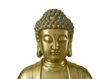 Buddha dorato su fondo bianco Fotografia Stock Libera da Diritti