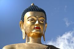 Buddha Dordenma statue on blue sky background, Thimphu, Bhutan
