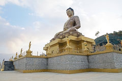 Buddha Dordenma, Thimphu, Bhutan. Buddha Dordenma is height 51.5 metres and it is made of bronze and gilded in gold. It is located on the top a hill Royalty Free Stock Photos